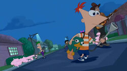 Phineas's transparent bubble washer