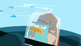 Agent P annoyed seeing Major Monogram and Carl are in Aruba