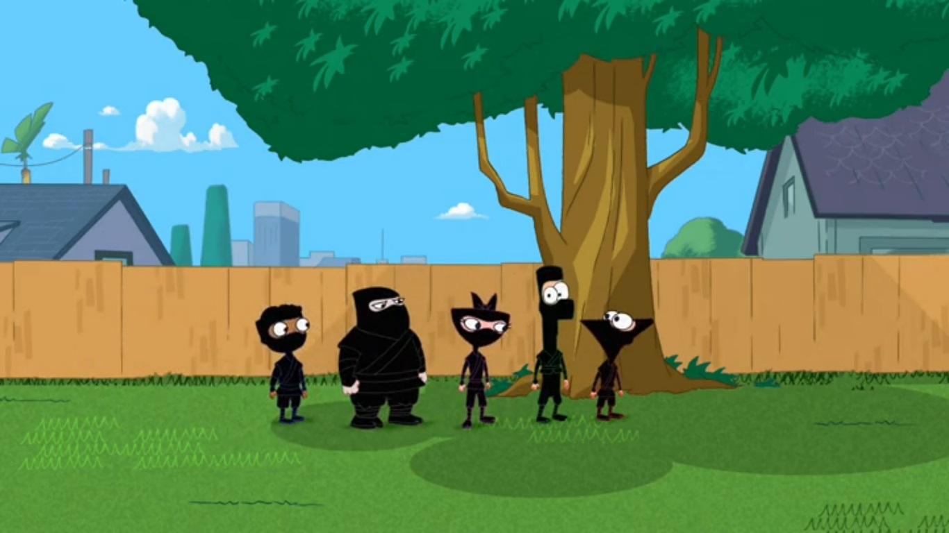 image ninja kids return to the backyard jpg phineas and ferb