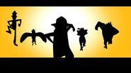 Animal agent silhouettes
