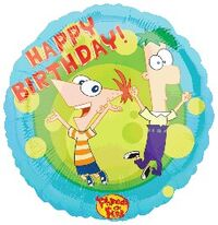 P&F Happy Birthday! balloon