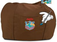 Personalized P&F bean bag chair - brown