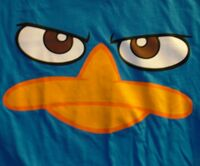 Perry face - blue t-shirt