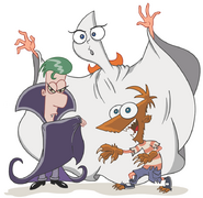 Phineas and Ferb and Candace-Vamoire Ghost Werewolf