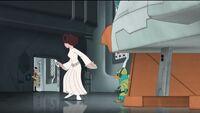 Captain Antilles warn Leia