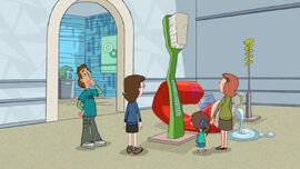 Look at that giant toothbrush