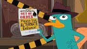 Use alternate entrance