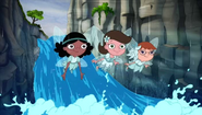 Adyson, Gretchen and Holly as water sprites