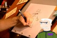 Dan draws Agent P