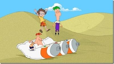 Phineas-and-Ferb-help-Jango-with-a-big-paiting-for-his-dad-phineas-and-ferb-4039504-504-285