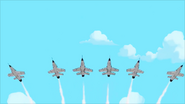 Spitfire planes over Canada