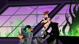 Perry the Platyborg and 2nd Dimension Doofenshmirtz's closeup