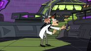 Doof gets hit in the head by Planty