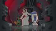 Perry, Leia and R2-D2