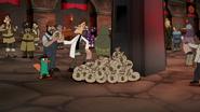 S04E25a Doof hands another man a bag of cash