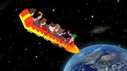Kids fall to earth