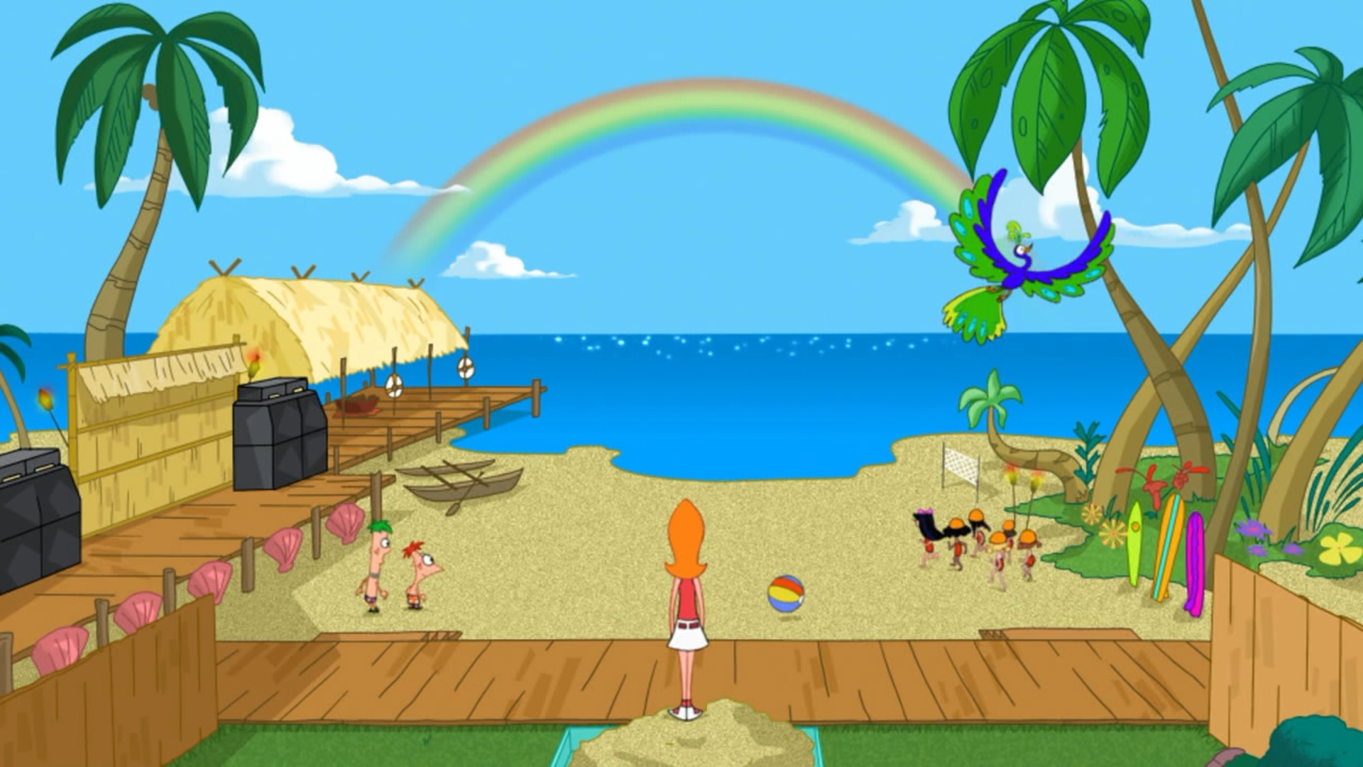 image backyard beach revealed jpg phineas and ferb wiki