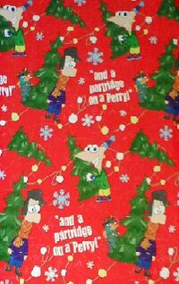 Phineas and Ferb Christmas wrapping paper