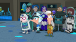 The Speckies looked at Ferb dressed as Hymie Silverman