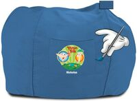 Personalized P&F bean bag chair - blue