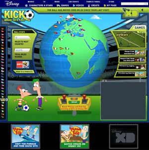 Kick Around the World - main page