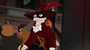 S04E25a Monty arrives as the Scarlet Pimpernel
