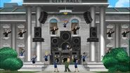 City Hall crew dancing