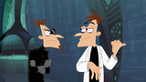 Doofenshmirtz-2 glares at Doof-1