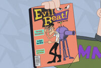 Monogram holding Evil Beat! magazine