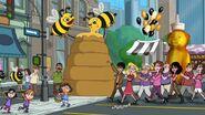 In a honey comb