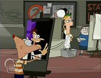 Phineas mistakes Ferb for Doofenshmirtz
