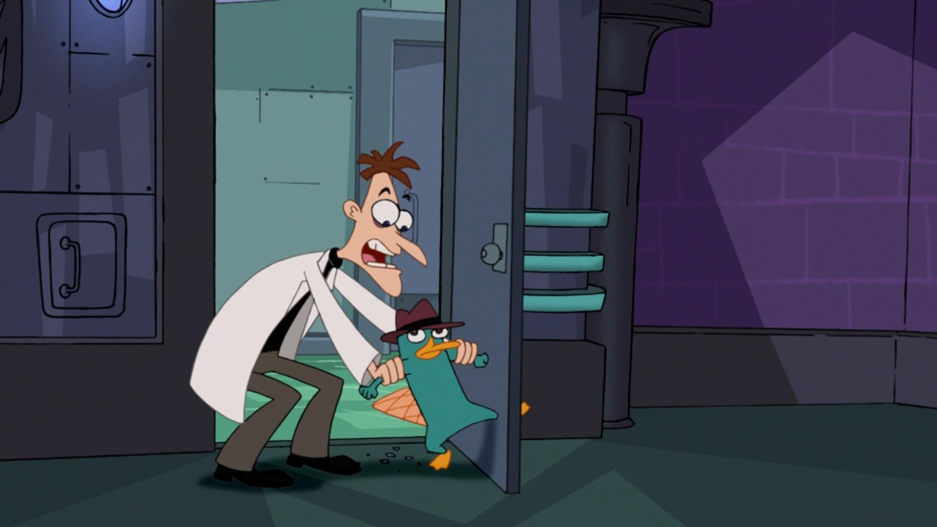 Agent P stuck in the door.jpg & Image - Agent P stuck in the door.jpg | Phineas and Ferb Wiki ...