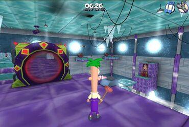 Ferb exploring in game 1