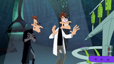 Doofenshmirtz-1 stands back to watch the portal open