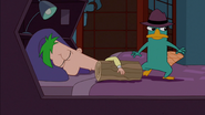 Perry replaces himself with a log