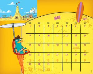 May 2011 calendar desktop