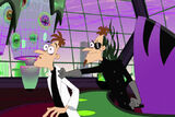 2nd Dimension Doofenshmirtz grabs 1st Dimension Doofenshmirtz