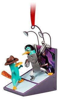 Agent P and Platyborg Ornament