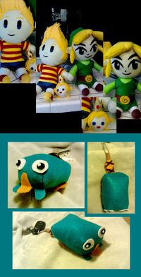 Plushies and keychains, by Irrel