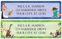 Phineas and Ferb sheet labels