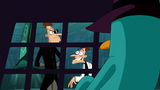 Doof-2 approaches to his prisoner