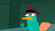 Agent P clench fists