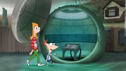 Phineas leading Candace to the control room