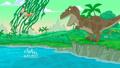Siblings escape T-Rex