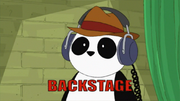 Peter the Panda is backstage