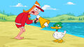 Candace yells at a duck.jpg