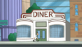 Doof goes in the diner