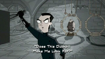 Does This Duckbill Make Me Look Fat? title card