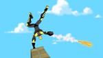 Beak running the skate course 8