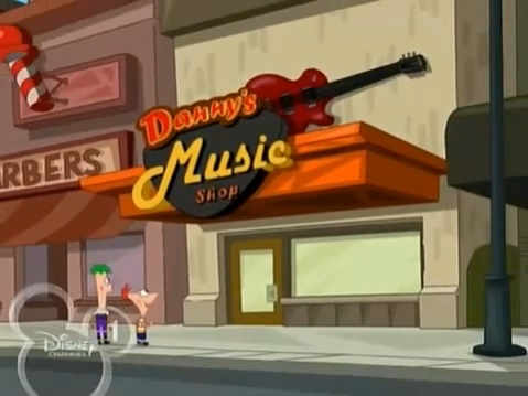 Danny's Music Shop | Phineas and Ferb Wiki | FANDOM ...
